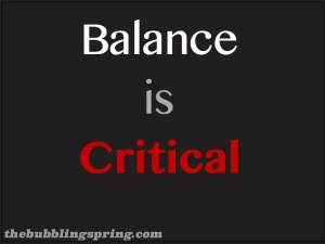 Life is a choice and so is balance