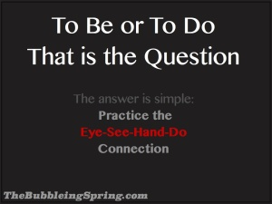 eye see hand do